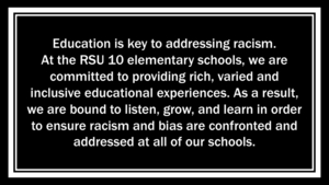 RSU #10 Elementary School Statement Regarding Racism