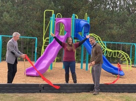 Playground Ribbon Cutting