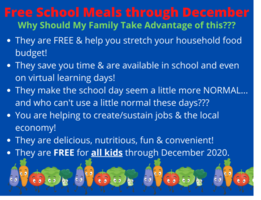 Free School Meals through December