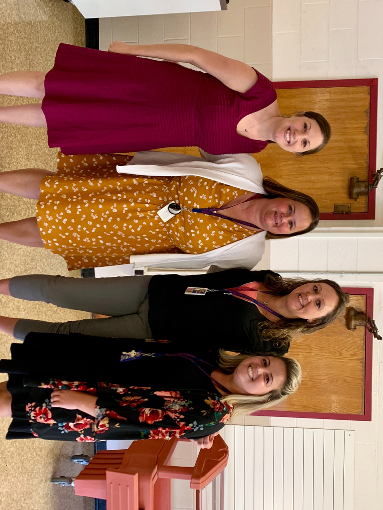 Meet our kindergarten staff! From left to right: Mrs. Curato, Mrs. Mazza, Miss Gundersen, and Miss Noyes