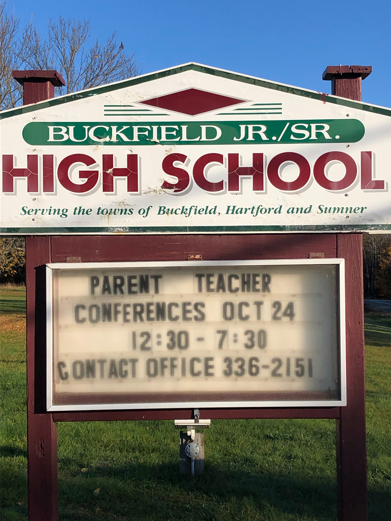Parent / Teacher Conferences on October 24. Please contact the office at 336-3151 to schedule, or email Mrs. Rines at frines@rsu10.org.