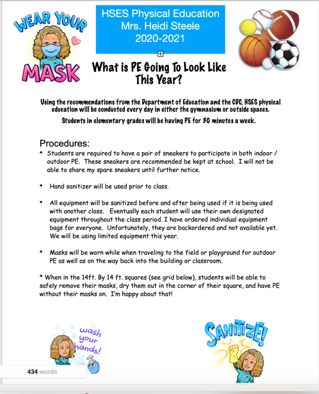 Physical Education Newsletter